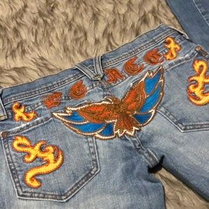 Miss Me Jeans - Miss Me Peace Embroidered Boho Bootcut Jeans